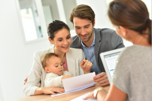 Young Couple with Child preparing their estate plan